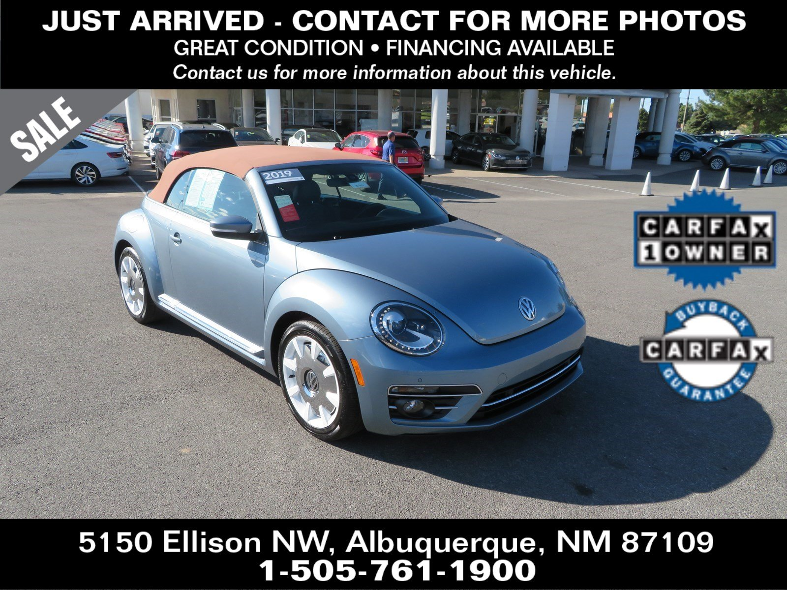 Pre-Owned 2019 Volkswagen Beetle Convertible Final Edition SEL
