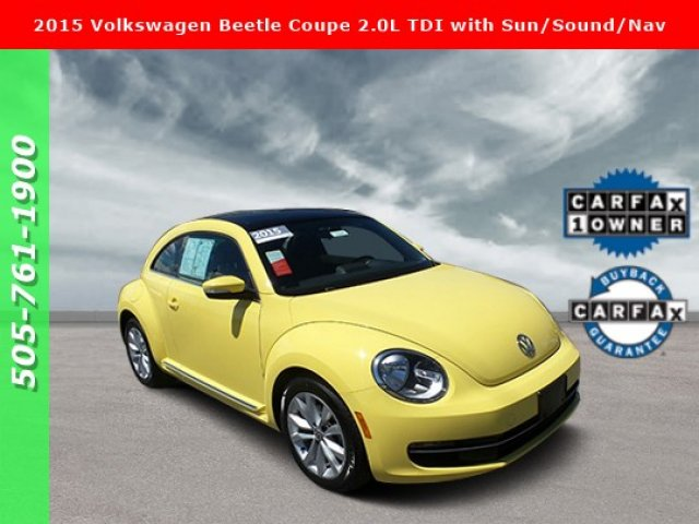 Pre-Owned 2015 Volkswagen Beetle Coupe 2.0L TDI with Sun/Sound/Nav