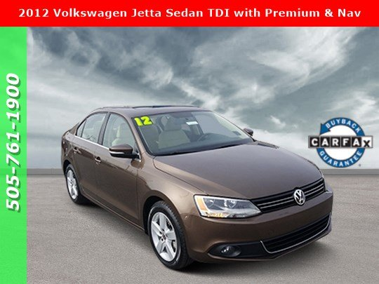 Pre-Owned 2012 Volkswagen Jetta Sedan TDI with Premium & Nav