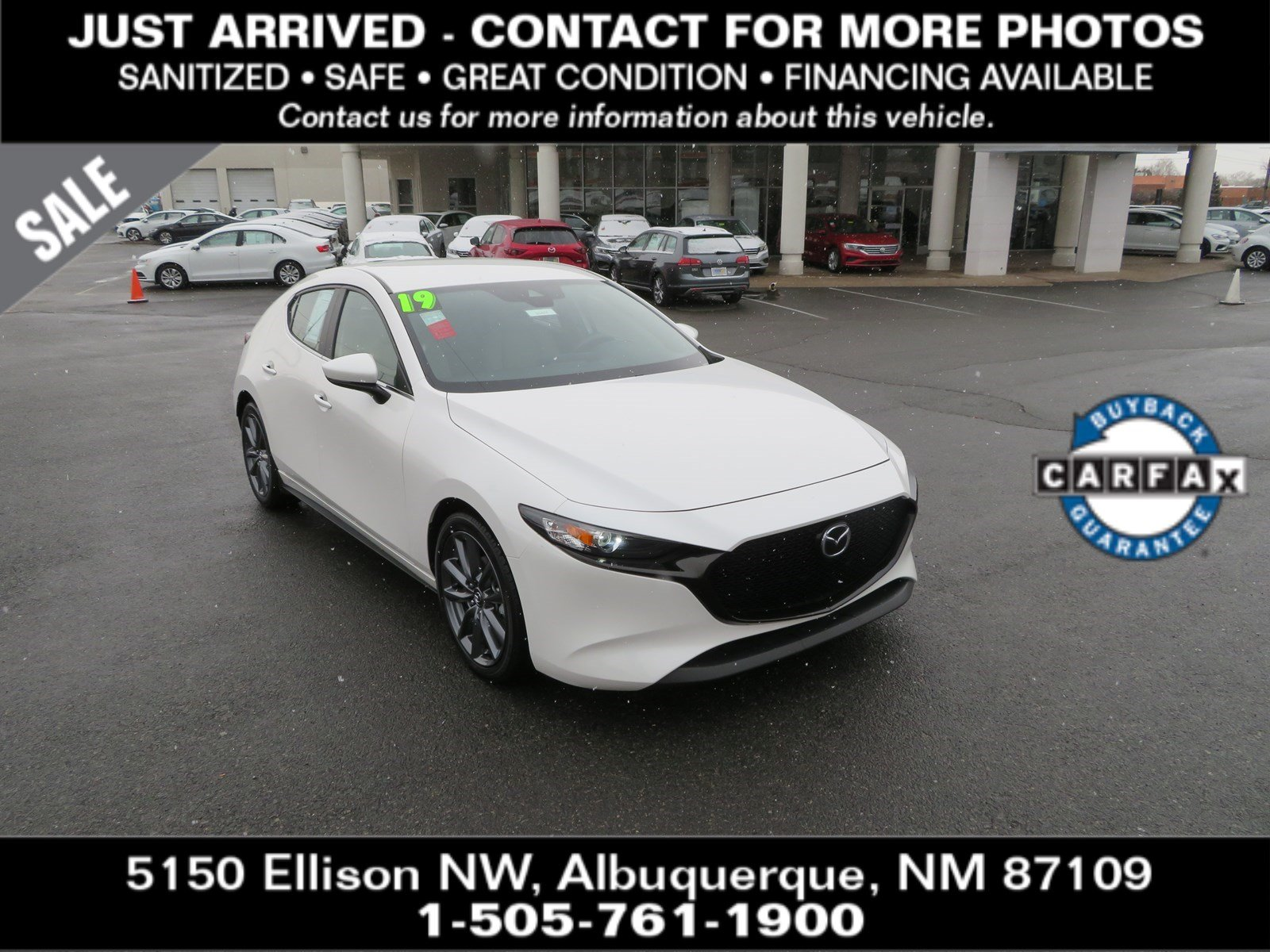 Certified Pre-Owned 2019 MAZDA MAZDA3 5-DOOR Preferred