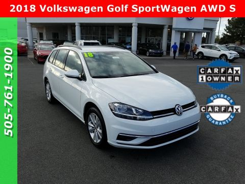 Pre-Owned 2018 Volkswagen Golf SportWagen AWD S